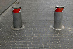 Barrier for cars Royalty Free Stock Photography