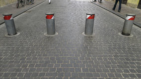 Barrier for cars Royalty Free Stock Images