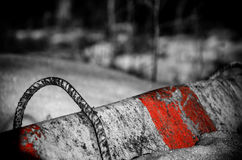 Barrier. Concrete barrier in the woods in Finland Stock Images