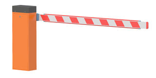 Barrier, 3D rendering. Isolated on white background Stock Photo