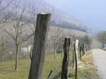 Barrier, fence wood or metal Royalty Free Stock Photos