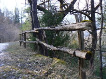 Barrier, fence wood or metal Stock Image