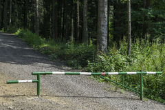 barrier in forest Stock Image