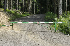 Barrier in forest Stock Images
