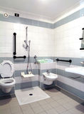 Barrier free bathroom Stock Images
