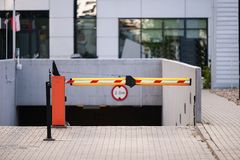 Barrier Gate Automatic system for security. Stock Image