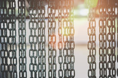 Barrier gate made of steel chain Royalty Free Stock Images