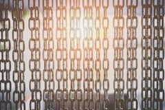 Barrier gate made of steel chain Royalty Free Stock Photo
