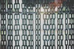 Barrier gate made of steel chain Royalty Free Stock Photography
