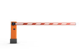 Barrier. Isolated on white background. 3d render image Royalty Free Stock Image