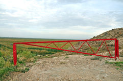 The barrier near Khor Virap, about the Armenian-Turkish border. Aras River valley Royalty Free Stock Image