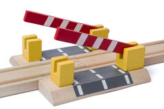 Barrier is opening to give way Royalty Free Stock Image