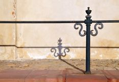 Barrier and pillar royalty free stock photo
