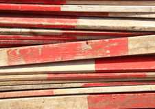 Barrier planks with red and white stripes. Barrier planks with red and white stripe Royalty Free Stock Photography