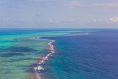 Barrier reef in the Caribbean Royalty Free Stock Photography