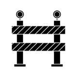 Barrier restricted street stripe design pictogram. Vector illustration eps 10 Stock Photo
