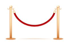 Barrier rope Royalty Free Stock Image