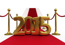 Barrier rope new year 2015 Stock Images