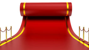 Barrier rope and red carpet Royalty Free Stock Photo