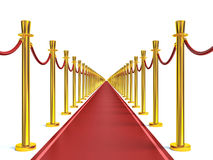 Barrier rope and red carpet Royalty Free Stock Photos