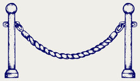 Barrier rope Stock Photography