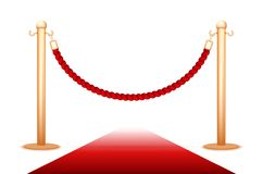 Barrier rope. On a white background Royalty Free Stock Photos