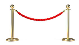Barrier rope. On white - 3d render Royalty Free Stock Image