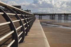 Barrier on sea defence Royalty Free Stock Photos