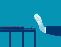 Barrier. Stop business people to success. Concept business. Illustration. Vector flat Royalty Free Stock Photography