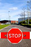 Barrier_Stopp_Sign_1 Stockbilder