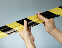 Barrier Tape Royalty Free Stock Photos