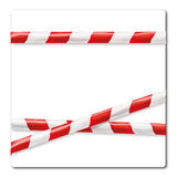Barrier tape red and white Stock Photography