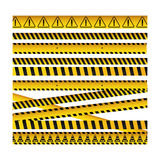 Barrier tape ribbon icon. Image,  illustration design Stock Image