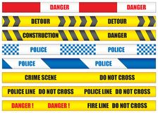 Barrier Tape Vector Illustration Royalty Free Stock Images