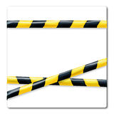 Barrier tape yellow and black Royalty Free Stock Photos