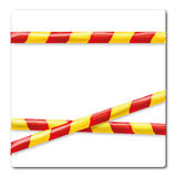 Barrier tape in yellow and red Stock Images
