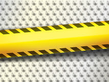Barrier Tapes on a background with thorns Royalty Free Stock Photos
