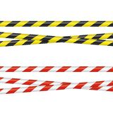 Barrier Tapes. Two different barrier tapes on a neutral background Stock Photos