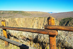 Barrier to Black Canyon Stock Photography