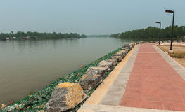 Barrier to erosion from flooding. Stock Image