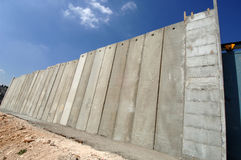 Barrier Wall Near Bethlehem. September 14, 2006 - A section of the massive Barrier Wall being built by Israel in the West Bank, this one between Bethlehem and Stock Images