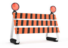 Barrier. On white. 3d rendered image Royalty Free Stock Photography