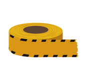 Barrier yellow black striped construction icon. Vector graphic Royalty Free Stock Photography