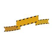 Barrier yellow black striped construction icon. Vector graphic Stock Photos