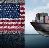 Barriera commerciale americana illustrazione di stock