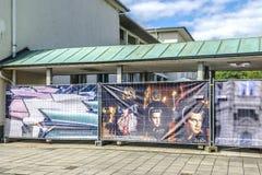Barriera con le insegne di Elvis Presley Immagine Stock