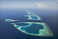 Barriera corallina ed atollo Fotografia Stock