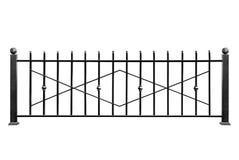 Barriera decorativa del metallo, recinto immagini stock