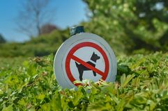 Barriera del passaggio dei cani Immagini Stock