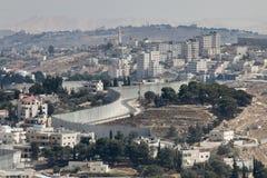Barriera della Cisgiordania a Gerusalemme orientale Immagine Stock